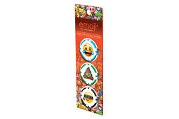 Marque-balles en forme de jetons de poker emoji- lot de 3