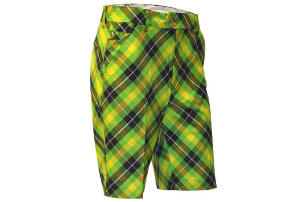 Short Royal & Awesome Plaid Electric