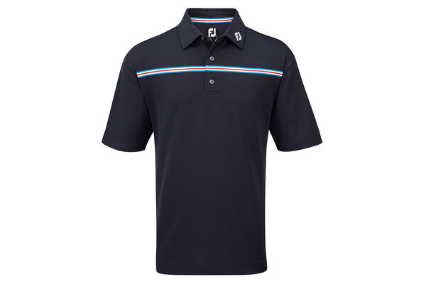 Polo FootJoy Pique Chest Stripe