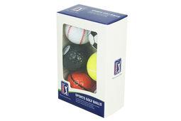 Lot de 6 Balles de Golf PGA Tour Sports