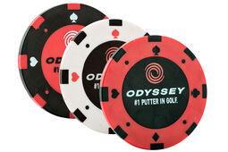 Marque-balles en forme de jetons de poker Odyssey - lot de 3