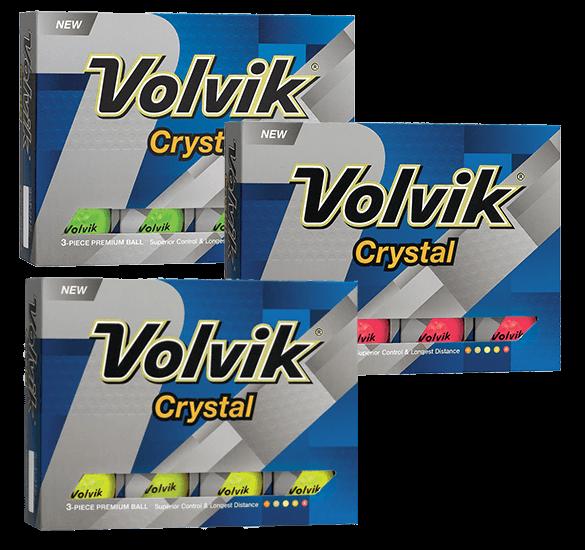 Douze balles de golf Volvik Crystal