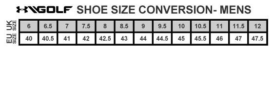 Trouvez la bonne taille des vêtements UnderArmour Golf avec les tailles françaises et européennes