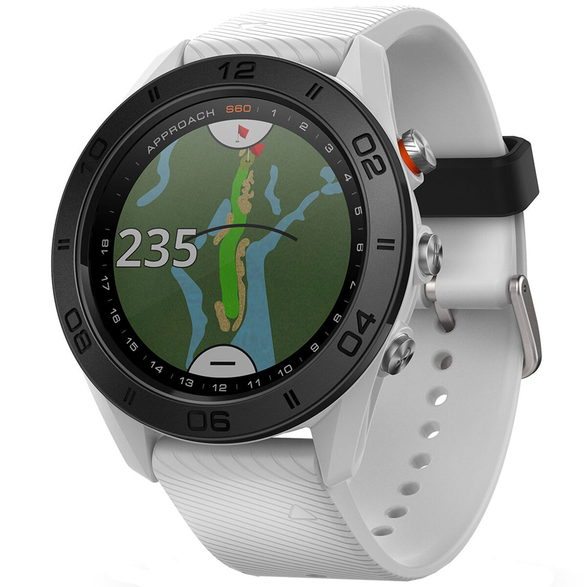MONTRE GPS GOLF GARMIN APPROACH S60, homme, Blanc