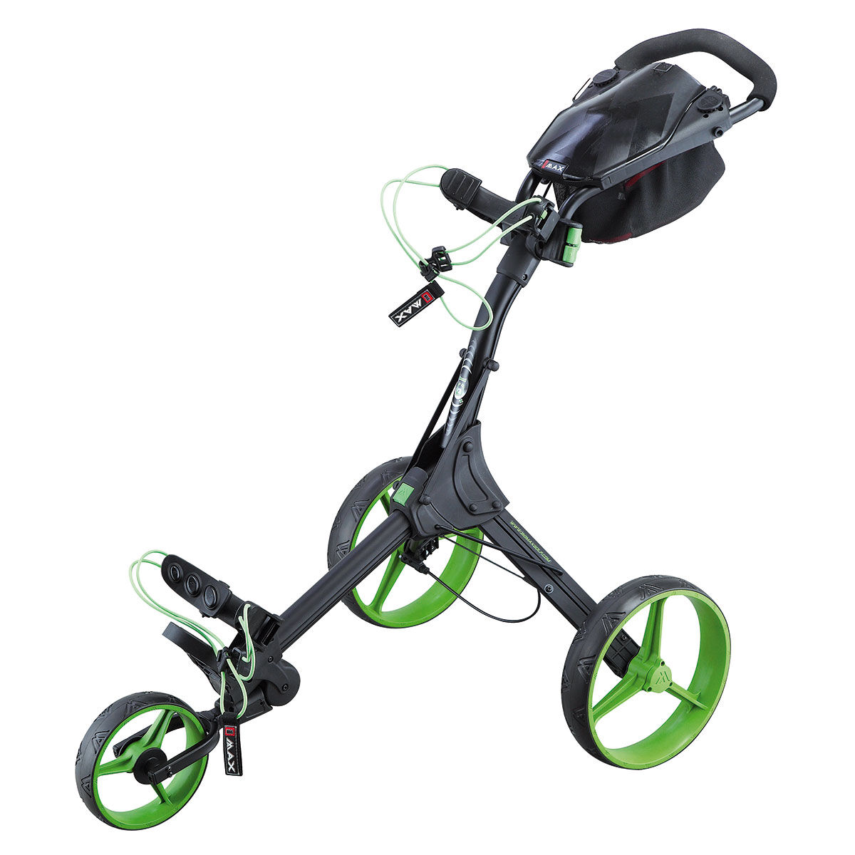 Chariot BIG MAX IQ Plus, homme, Noir/Vert citron    Online Golf