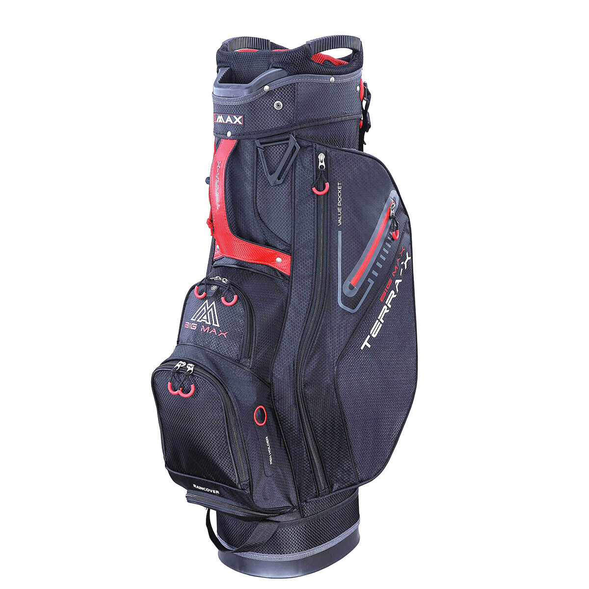 Sac chariot BIG MAX Terra X, homme, Rouge noir    Online Golf