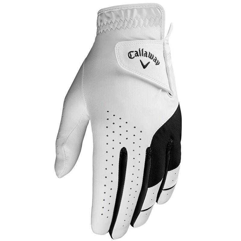Callaway Golf Weather Spann Golf Glove, Male, Left Hand, Small, White