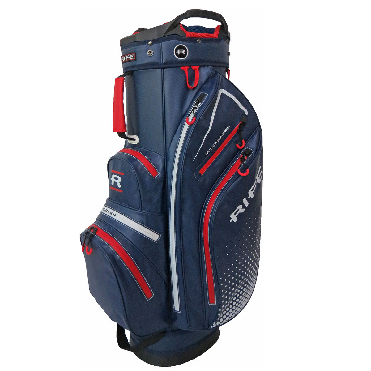 Sac chariot Imperméable Rife, homme, Marine/Rouge    Online Golf