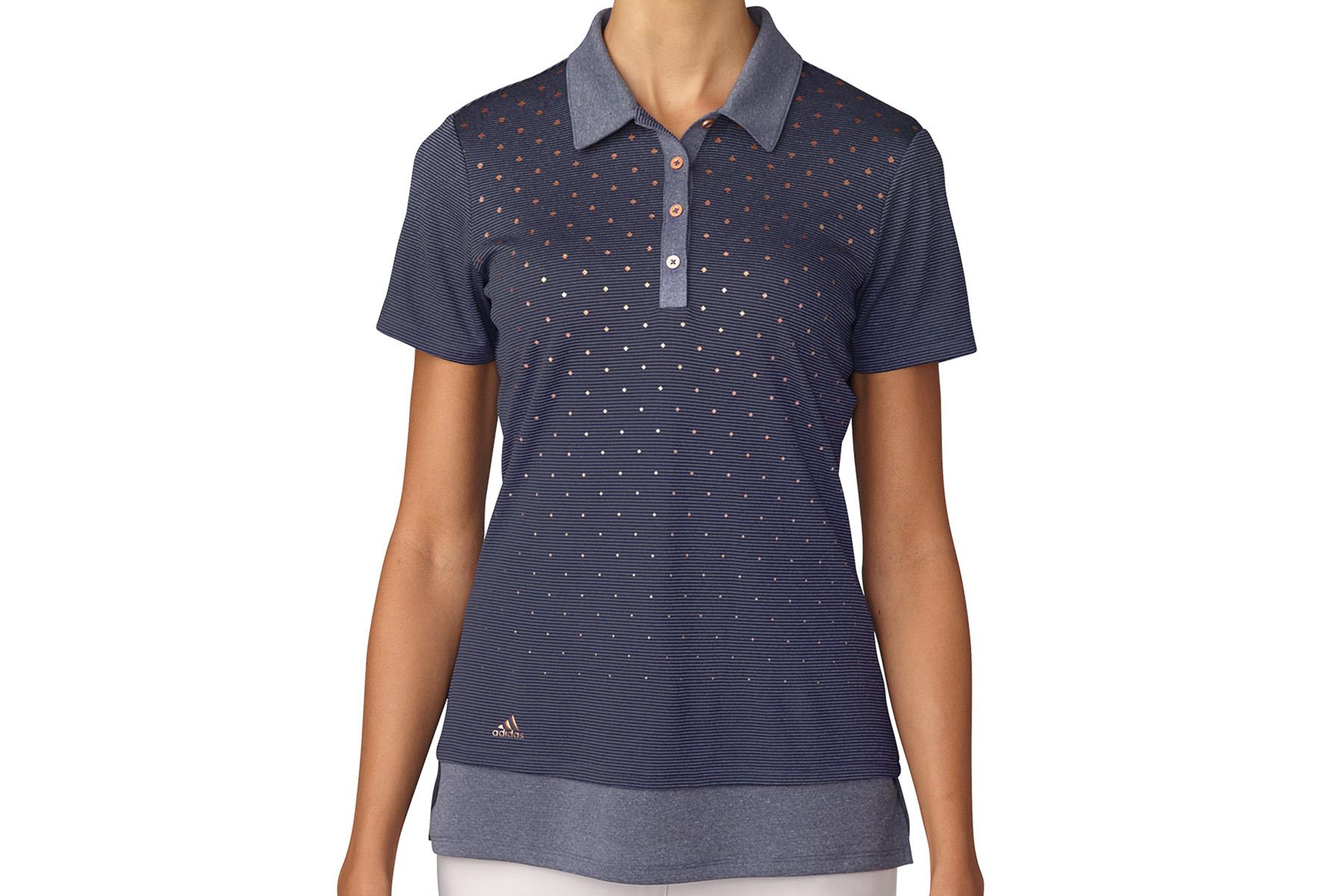 polo adidas golf printed pour femmes online golf. Black Bedroom Furniture Sets. Home Design Ideas